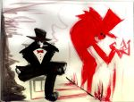 The Man with the Red Shadow by sauceoftheboot