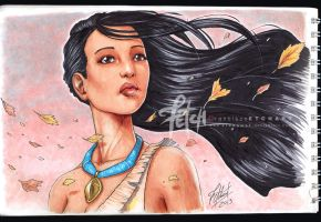 COPIC sketch05 POCAHONTAS by FranciscoETCHART
