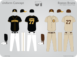 Boston Bruins Alterna Baseball by JimmyNutini