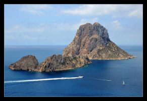 View From Ibiza - Es Vedra Island by skarzynscy
