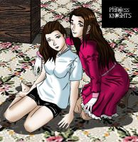 Lucy Y Zoe Amberly by piojote