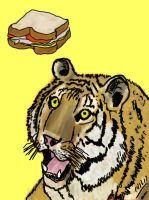 Tiger Sandwich T-Shirt by HPDarkness