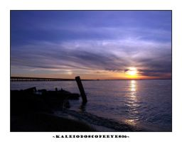Sunset Over the Water 06 by kaleidoscopeeyes06