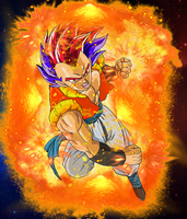 Super Saiyan God Gotenks (Teen) by EliteSaiyanWarrior