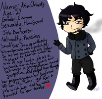 OC challenge day 1 small bio by 222222555555