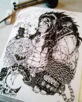 Main Man LOBO inked by TheWolfMaria