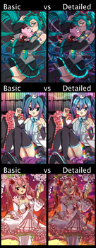 Basic Cell Shade vs. Detailed Cell Shade by LectorMedia