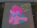 Chalk Pinkie's Broken through the... Sidewalk? by Conekonyan