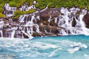 Hraunfossar, Iceland by Nightline
