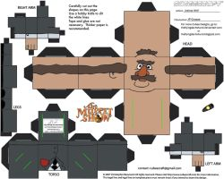 Muppets 2: JP Grosse Cubee by TheFlyingDachshund