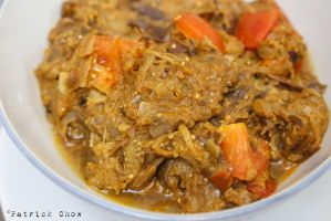 Curried eggplants by patchow