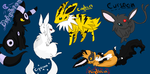 The Eeveelution Leaders by Nixhil
