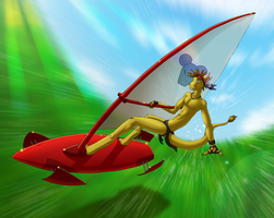Wind surfing by Lord-Kiyo