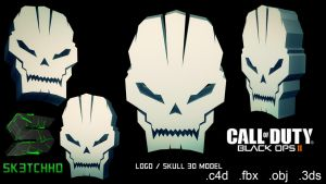 Call of Duty: Black Ops 2 Skull 3D-Model by sk3tchhd
