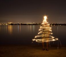 Sparkler Christmas Tree by The-Lightman