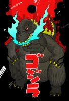 Godzilla by cheshirecatart