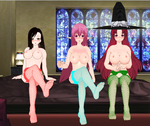 Request: Tifa, Myuria and Sorceress in fishnet by quamp