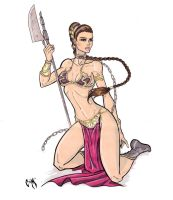 Slave Leia by CrimsonArtz