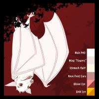 Albino Fruit Bat Character Sheet by albinoraven666fanart