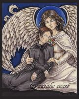 St Gemma and Guardian Angel by natamon