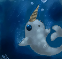 Narwhal baby by dreamer-the-wolf-3