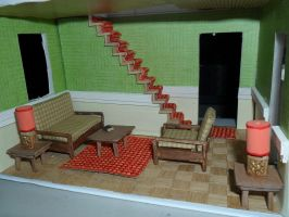 Retro Dollhouse WIP: Living Room wip by kayanah