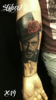 Day of the dead man tattoo by Slabzzz