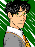 Tegaki Harry by BehindtheVeil