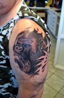 Gorilla tattoo by gettattoo