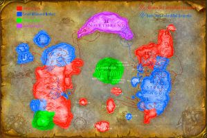 Post-cataclysm political Map by GeneralHelghast