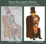 Draw this again meme - Layton and Flora by KurooTsukki