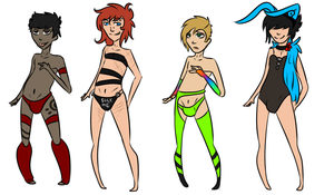 Fantastic Little Strippers Adoptables CLOSED by InfectedZombieX