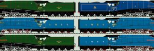 LNER A4 liveries - the surviving six by 2509-Silverlink