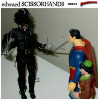 Edward Scissorhands meets Superman and Lois by StevenEly
