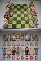 Hillbilly Chess Set by DougDraw