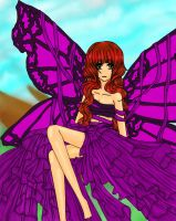 Butterfly Woman By GS by jornas