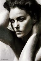 Portrait of Monica Bellucci by paulnery