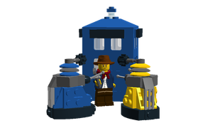 LDD - Doctor Who: Doctor and the Daleks by Cryptdidical