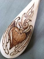 Burning Heart Wedding Spoon by parizadhe
