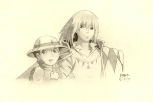 Howl and Sofie by Janna112358