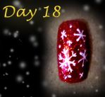 Day 18 Christmas Nail Design - Snowflakes by Cpr-Covet