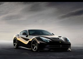 Ferrari Berlinetta Black by jeandesigner