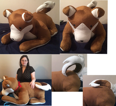 Jumbo Puppy Commission! by GuardianEarthPlush