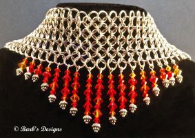 Cahinmaille And Crystal Choker by Barbsdesigns