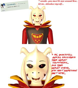 ASK AND DARE UNDERFELL ASRIEL PART 3 by GAMERBLOoReN