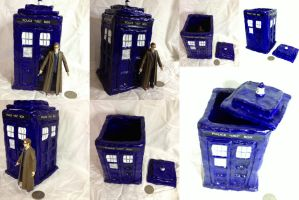 Commission - TARDIS box by SonsationalCreations