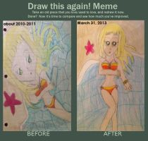 Before and After Meme - Aurora at the Beach by Camilia-Chan
