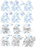 Sesslyth and Ezekiel Sketches by ShouldBee