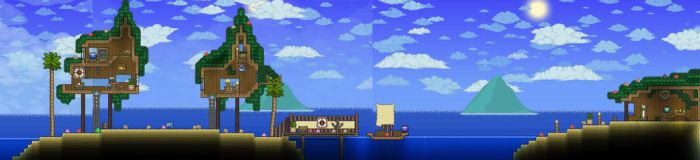 Terraria Beach House by XploSlime7
