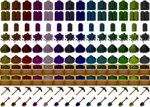 Re-Colored Metalbars, Tools/Gravel3 [RPG-Maker-MV] by petschko